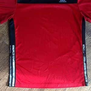 adidas Shirts & Tops - Boys Adidas L 14/16 Red Black Short Sleeve Shirt